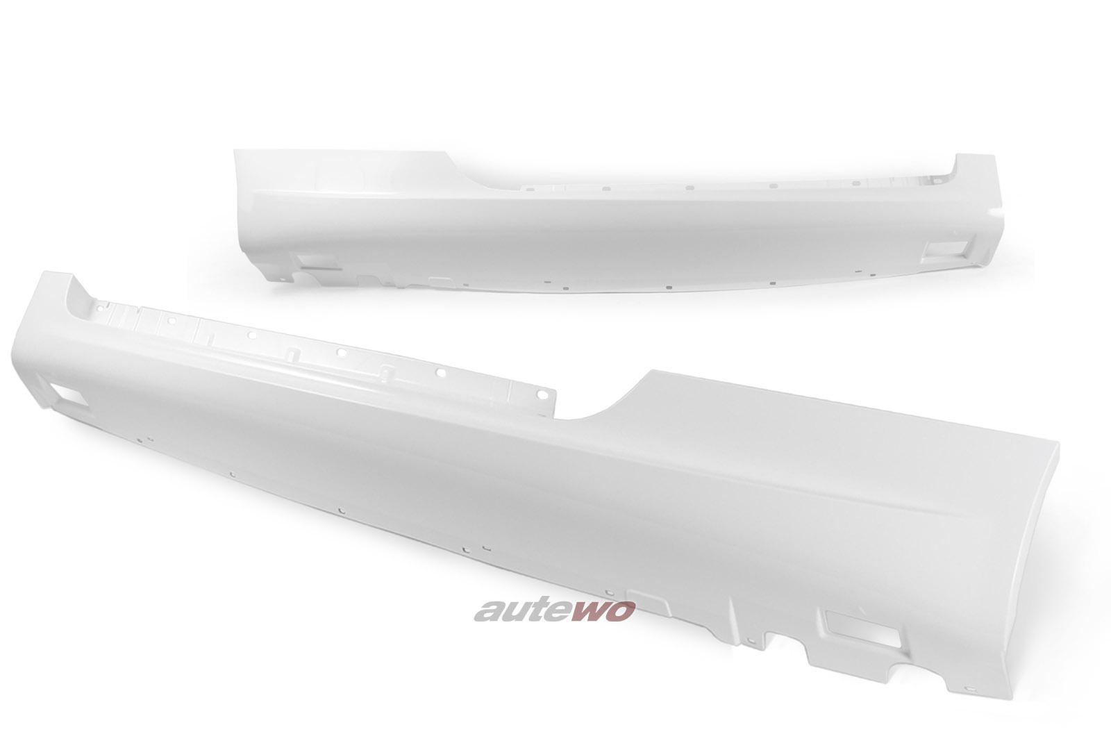 8J0071685 NEU Audi TT 8J Seitenschwellersatz S-Line LY9C ibisweiß