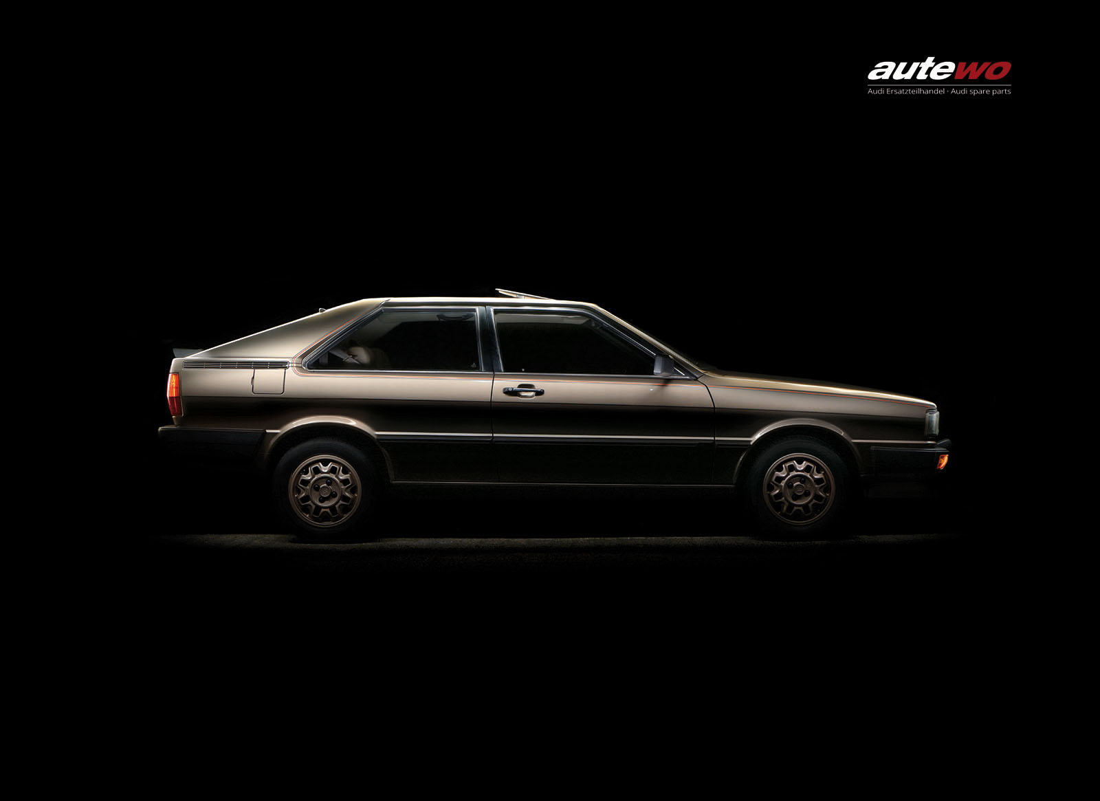 autewo-Poster DIN A2 Audi Coupe Typ 81 Gold Edition