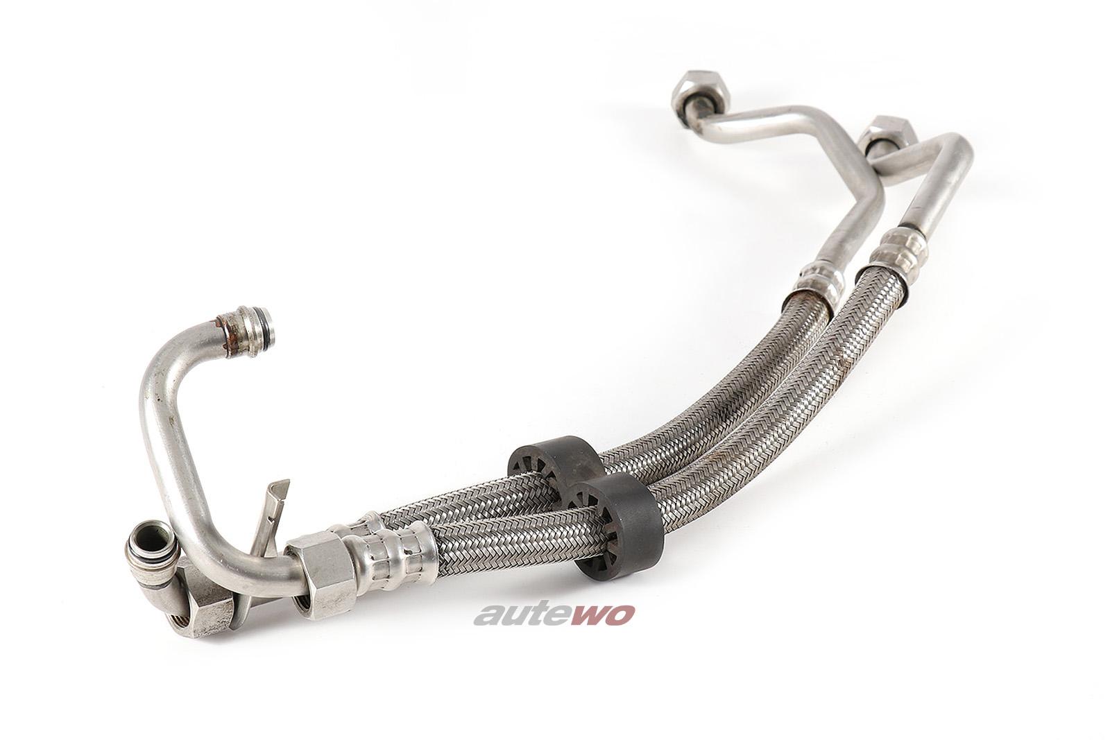 4A0117123A/4A0117125A Audi S4/S6 C4 20V Turbo Ölkühler Vor-/Rücklaufleitung