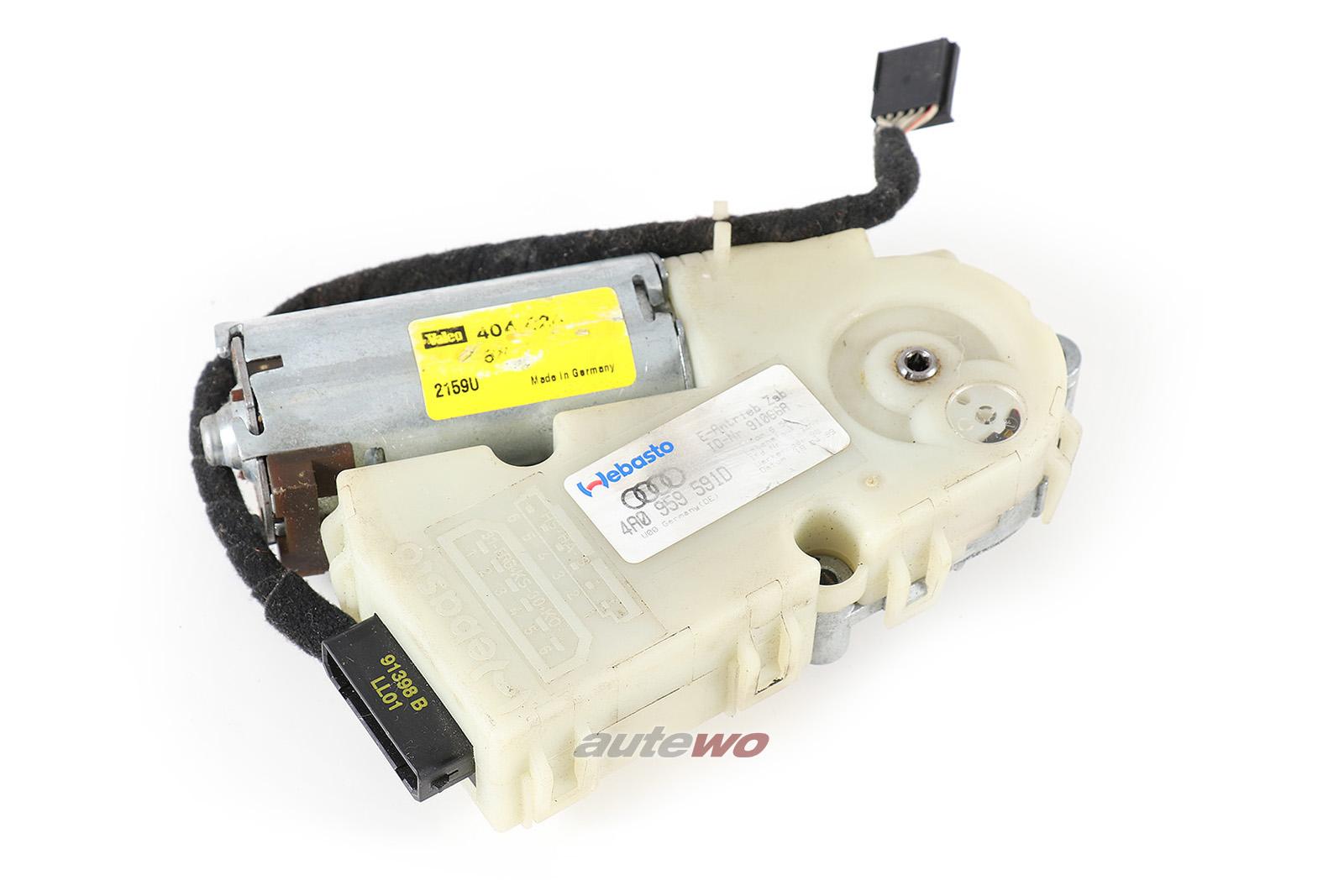 4A0959591D 4D0959591A Audi A8/S8 D2 Schiebedachmotor mit Vorwahlautomatik