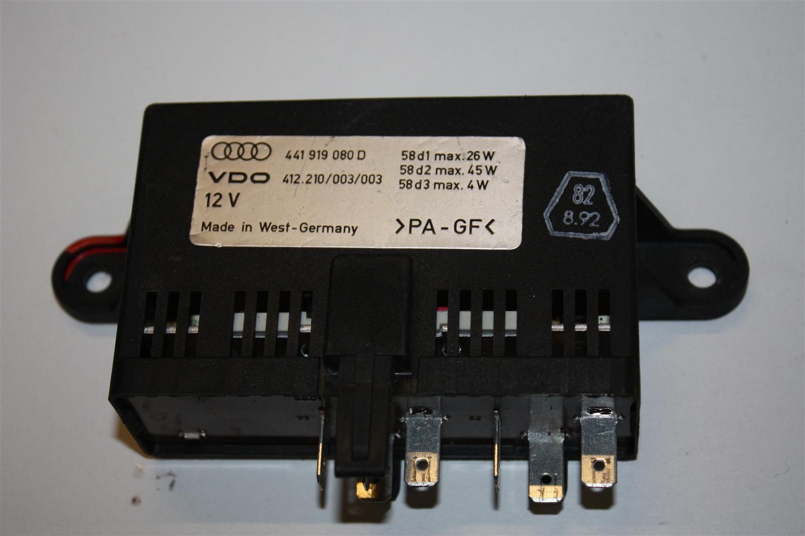 Audi/VW V8 D11 Relais Verstärker Instrumentenbeleuchtung 441919080D