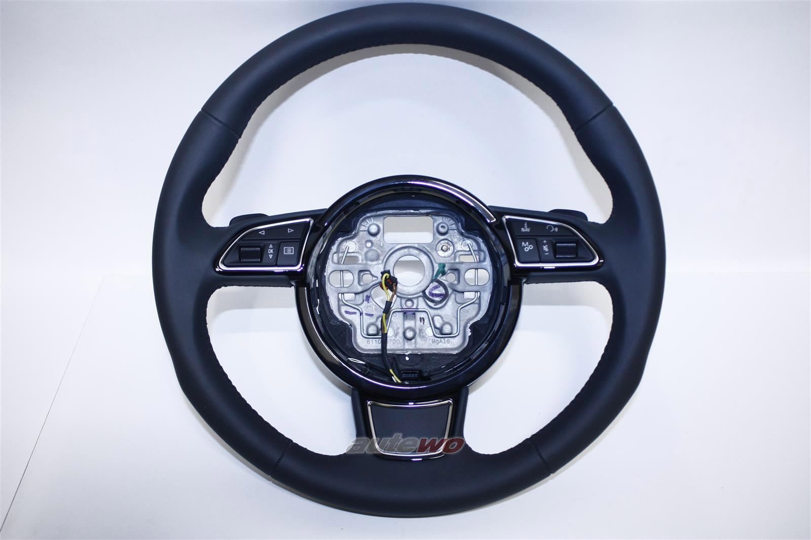 4H0419091H NEU Audi A8/S8 D4 3-Speichen-Sport-Multifunktionslenkrad grau