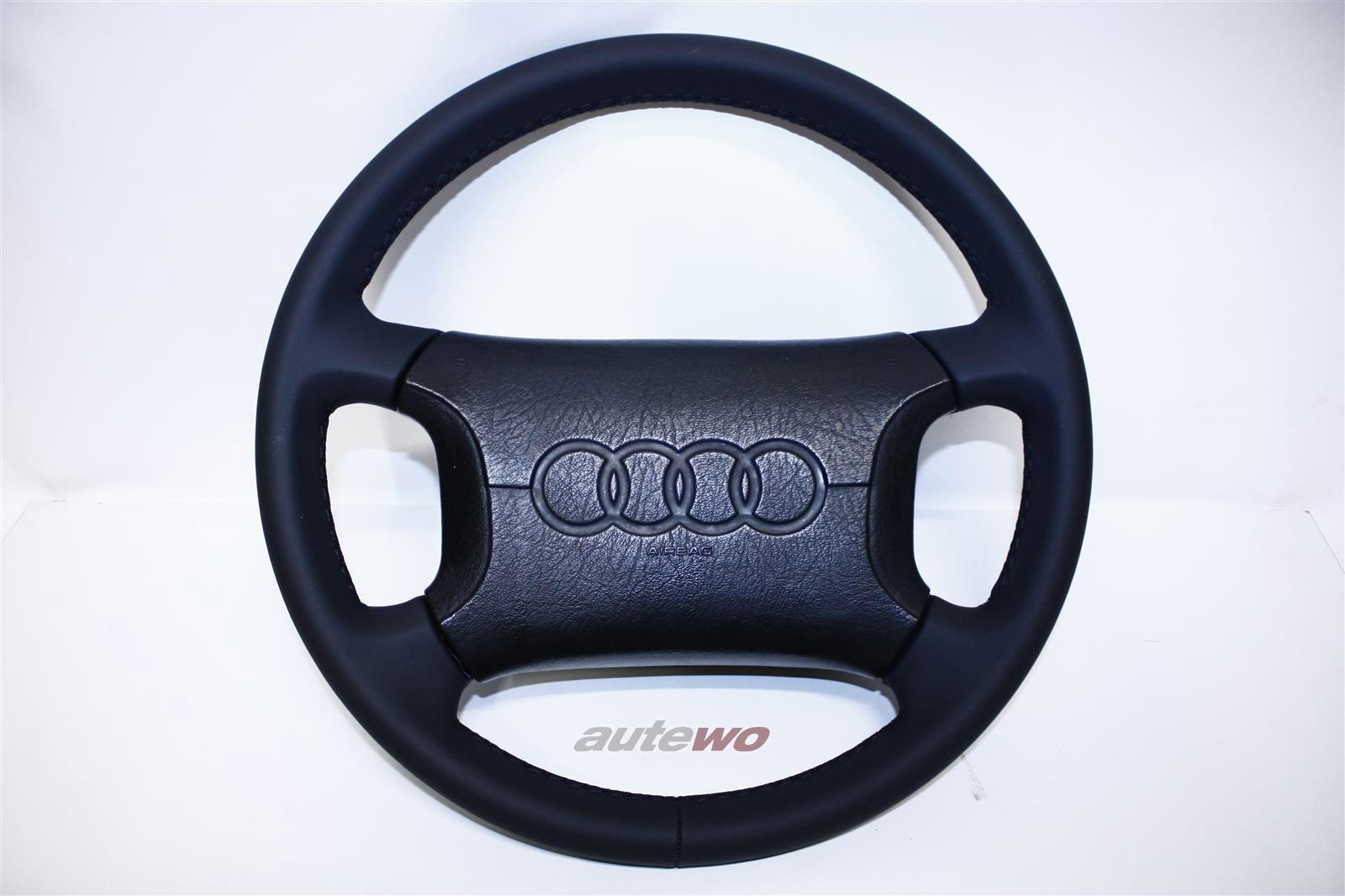 4A0419091C/E  Audi 80 B4/100/200 Typ 44/C4/V8 D11 4-Speichen-Lederlenkrad neu