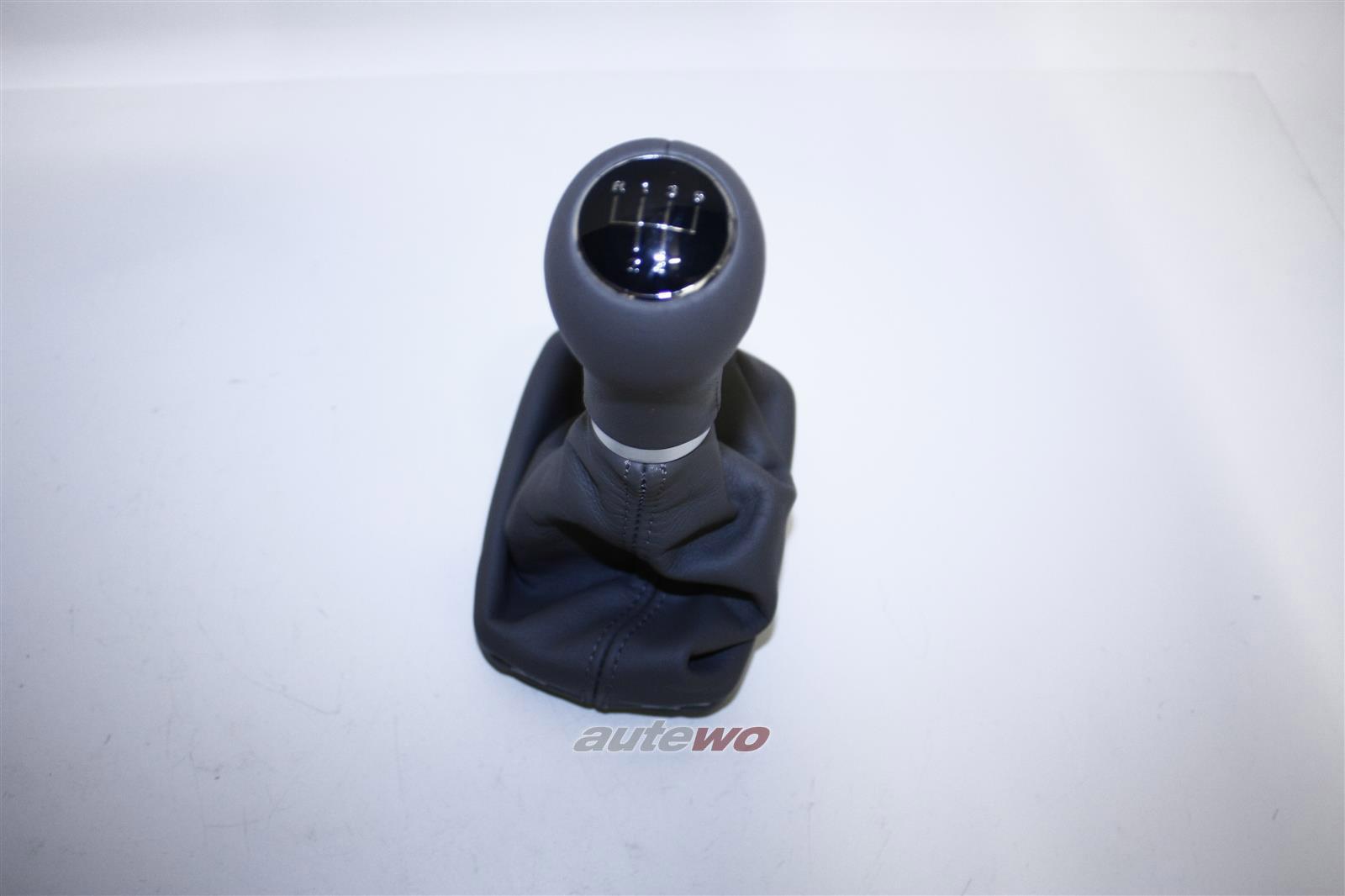 8L0863278BE 8L0863278M NEU Audi A3 8L Schalthebelknopf + Verkleidung Leder grau