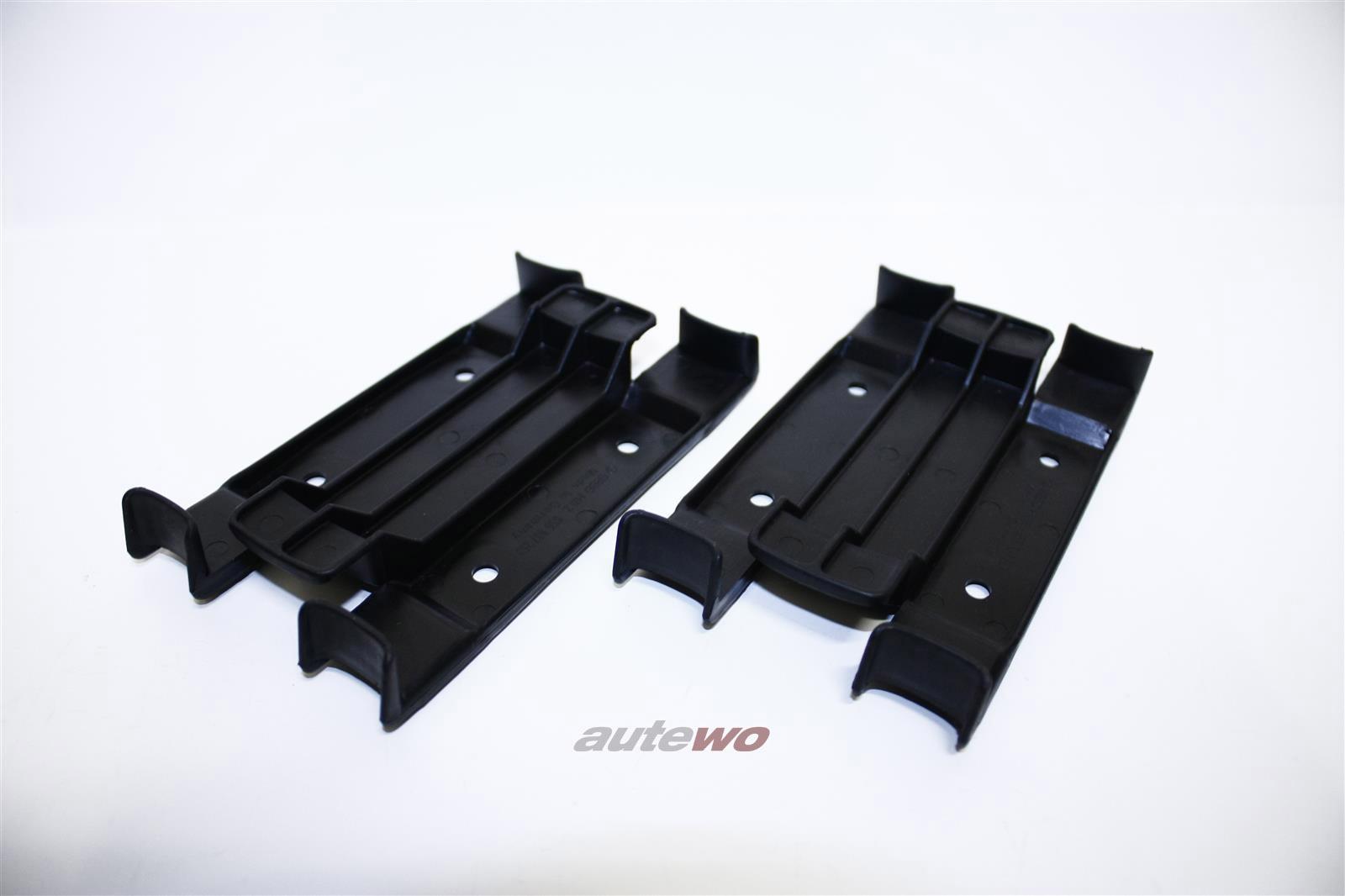 855807253 NEU Audi Coupe Typ 81/85 Set Halter Führungsstück Stoßstange Hinten
