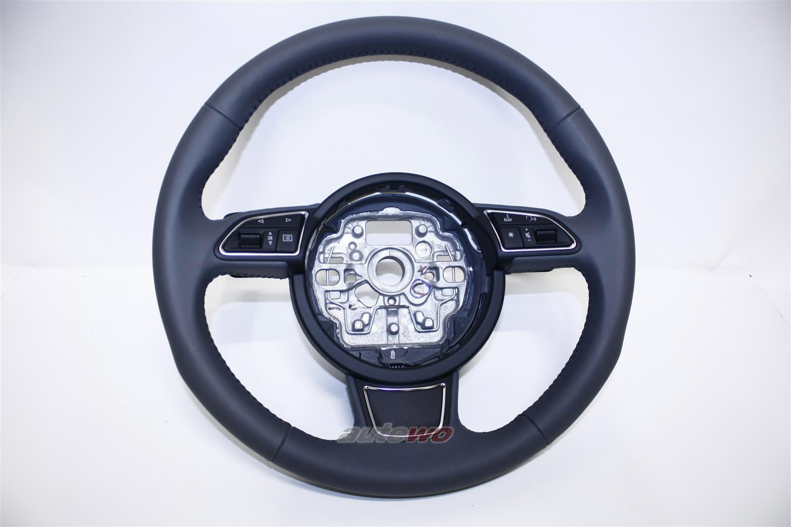 4G0419091S NEU Audi A1/A6/S6/RS6 4G/A7/S7/RS7 Sport-Leder-Lenkrad DB6 stahlgrau