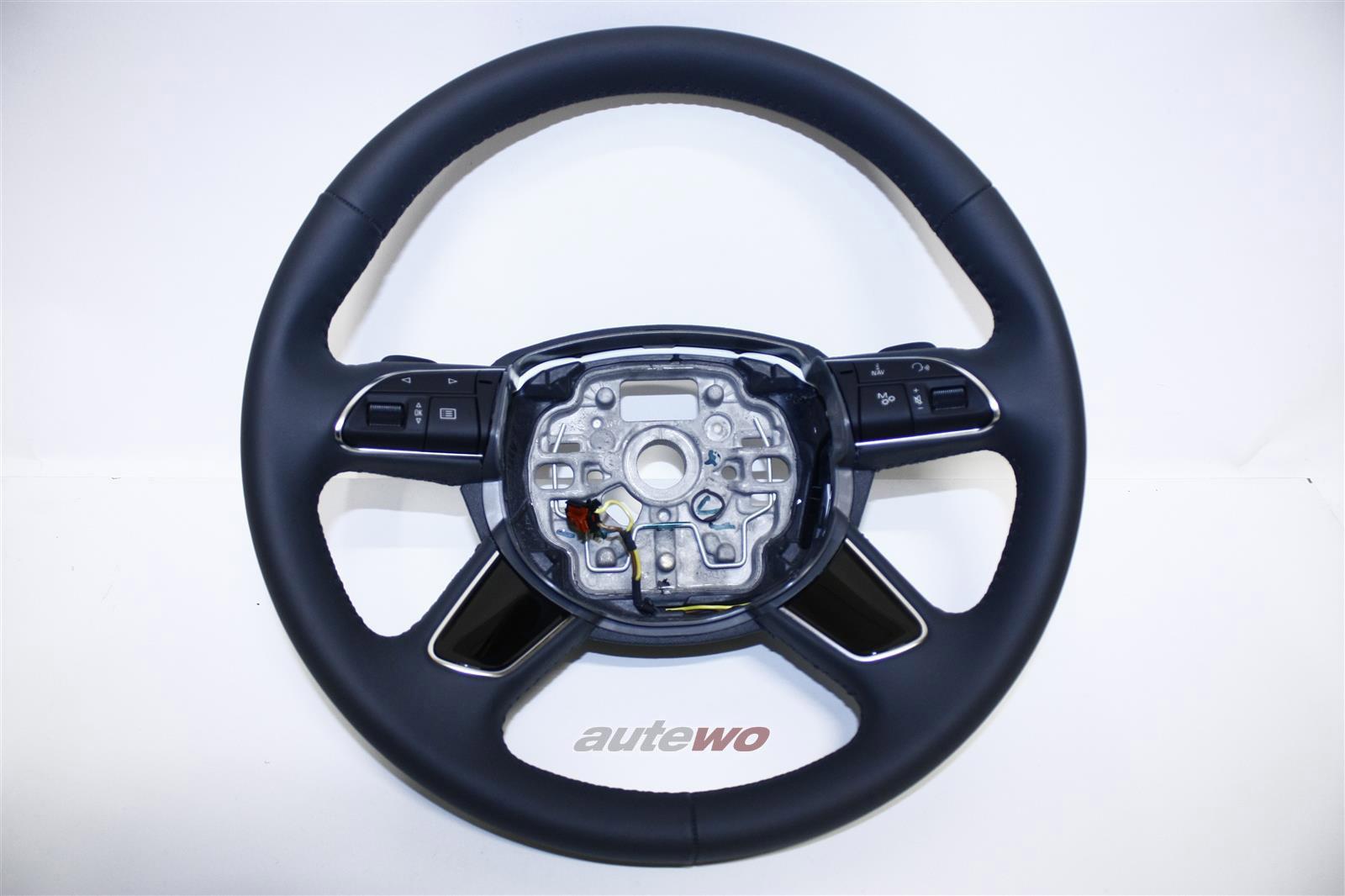 4H0419091AA NEU Audi A8 D4 Leder-Lenkrad beheizbar DF9 granit grau