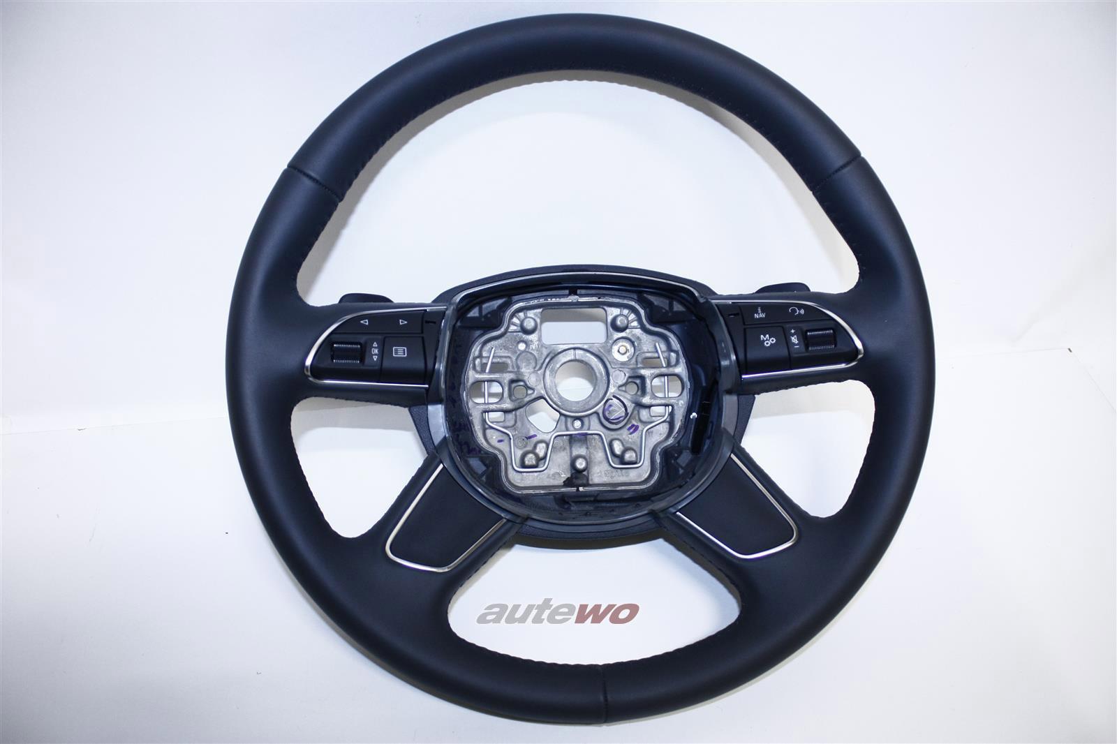 4H0419091AB NEU Audi A8 D4 Leder-Lenkrad DF9 granit grau