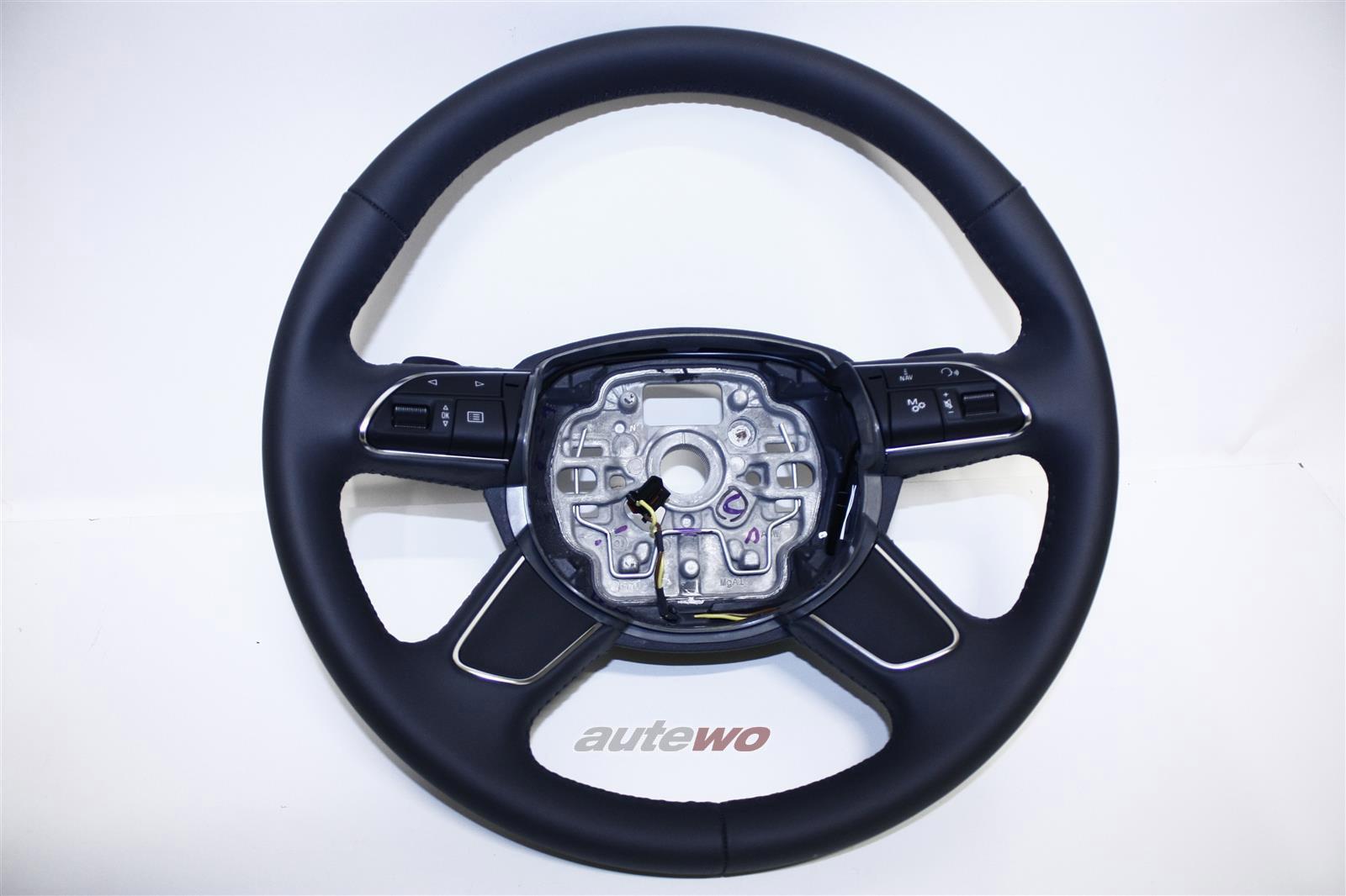 4H0419091AC NEU Audi A8 D4 Leder-Lenkrad DF9 granit grau