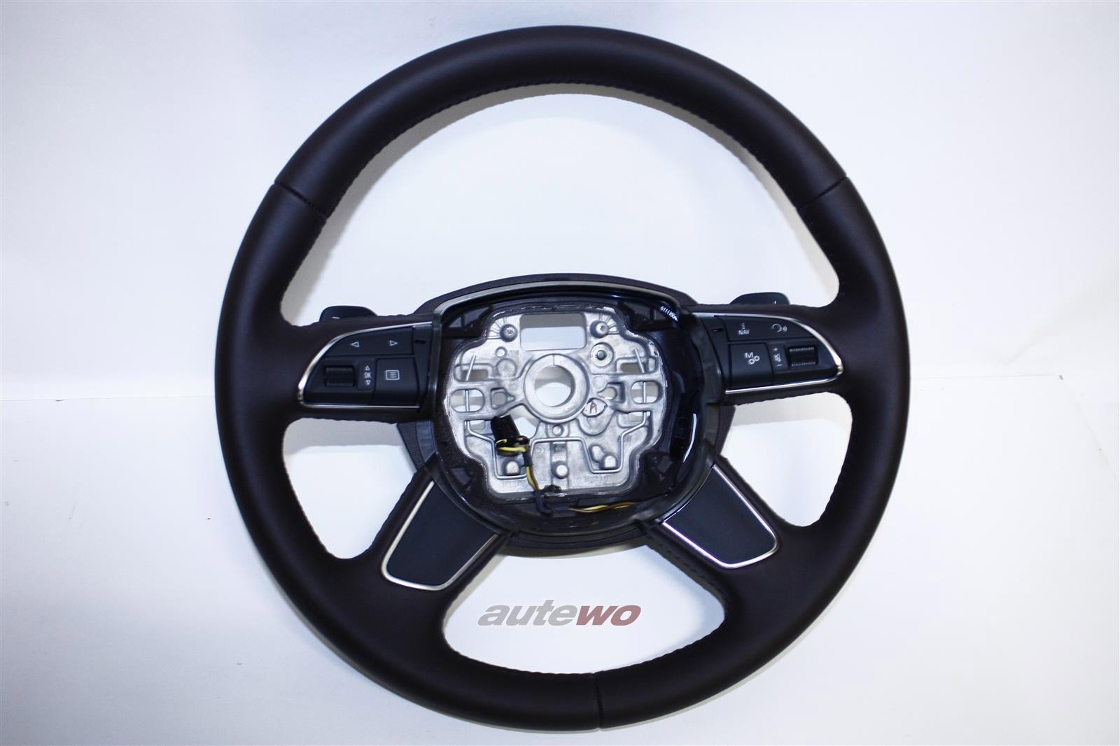 4H0419091B NEU Audi A8 D4 Leder-Lenkrad beheizbar DE8 mokkabraun