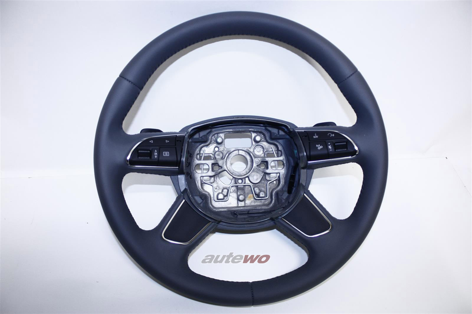 4H0419091D NEU Audi A8 D4 Leder-Lenkrad DB6 stahlgrau