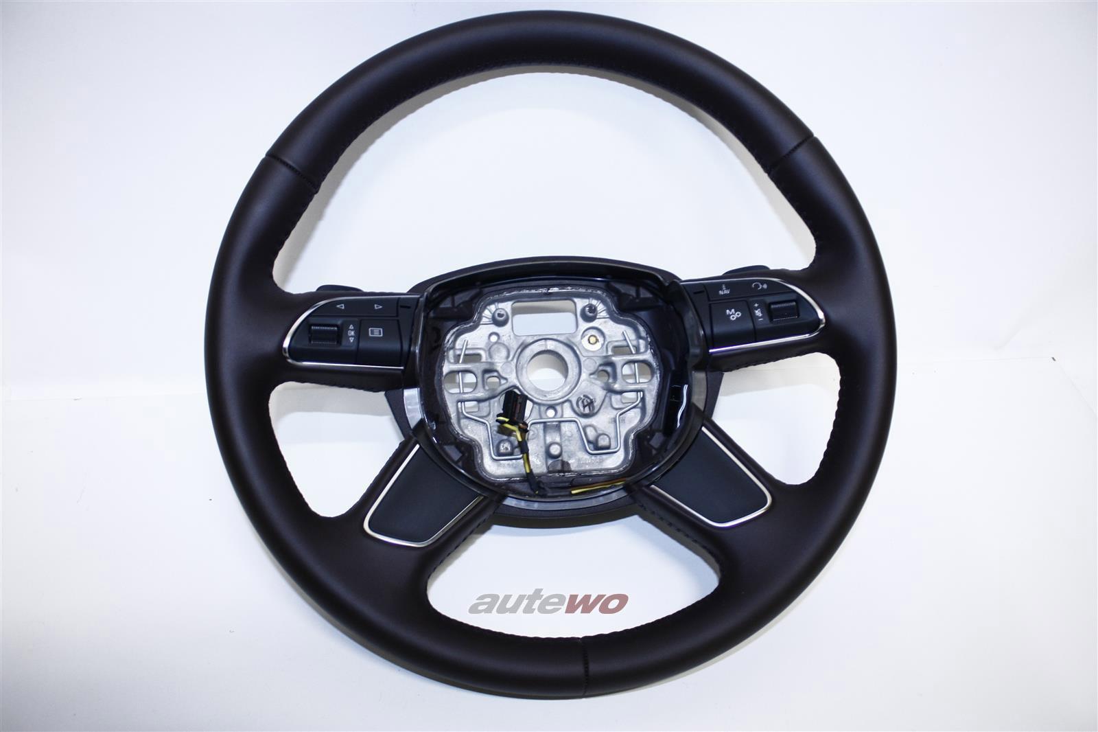 4H0419091E NEU Audi A8 D4 Leder-Lenkrad DE8 mokkabraun