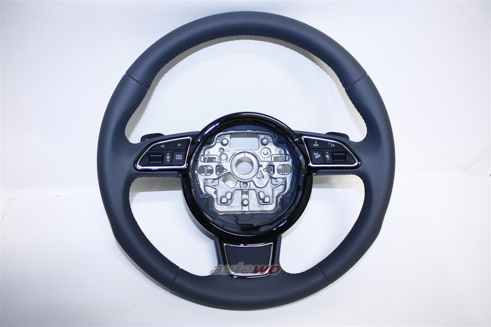 4H0419091G NEU Audi A8 D4 Sport-Leder-Lenkrad CJN stahlgrau