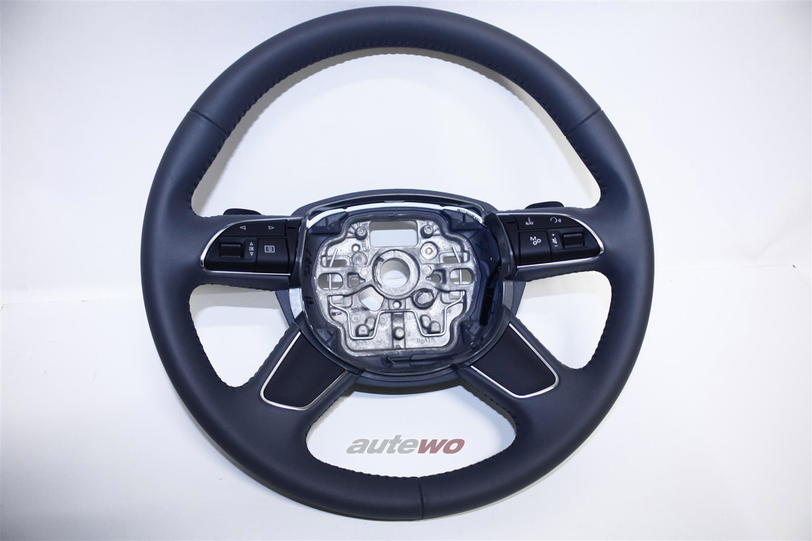 4H0419091T NEU Audi A8 D4 Leder-Lenkrad DB6 stahlgrau