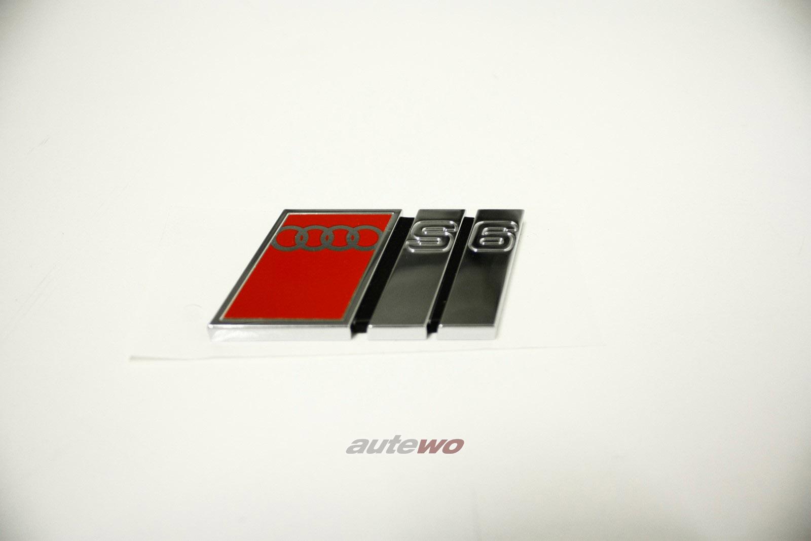 4A9853735B NEU Audi S6 C4 Schriftzug S6 2ZZ Chrom