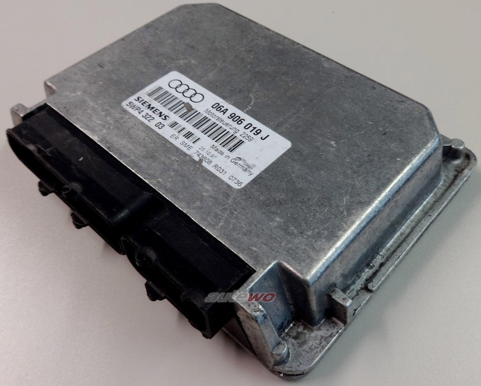 #06A906019J 5WP432203 Audi A3 8L 1.6l 100PS 4 Zyl. AEH Motorsteuergerät Automatik