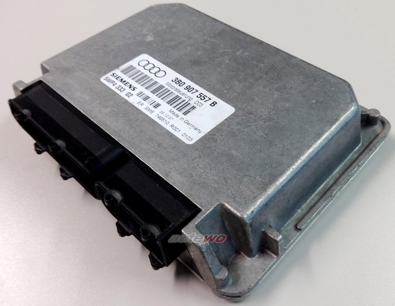 #3B0907557B 5WP433302 Audi A4 B5 1.6l 100PS 4 Zyl. AHL Motorsteuergerät