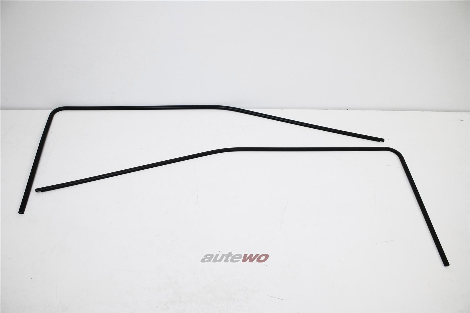 855837437 & 855837438 NEU Audi Coupe/Urquattro 81/85 Kantenschutz Fenster negro
