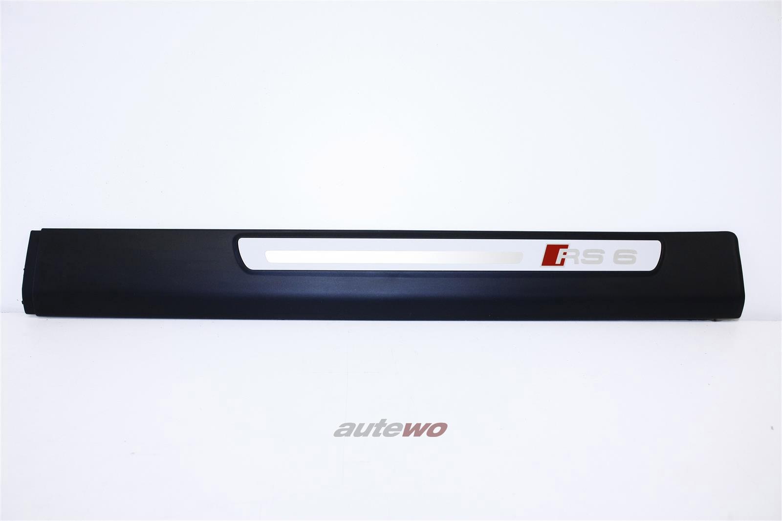 4F0853375G NEU Audi RS6 Einstiegleiste Hinten Links 01C schwarz