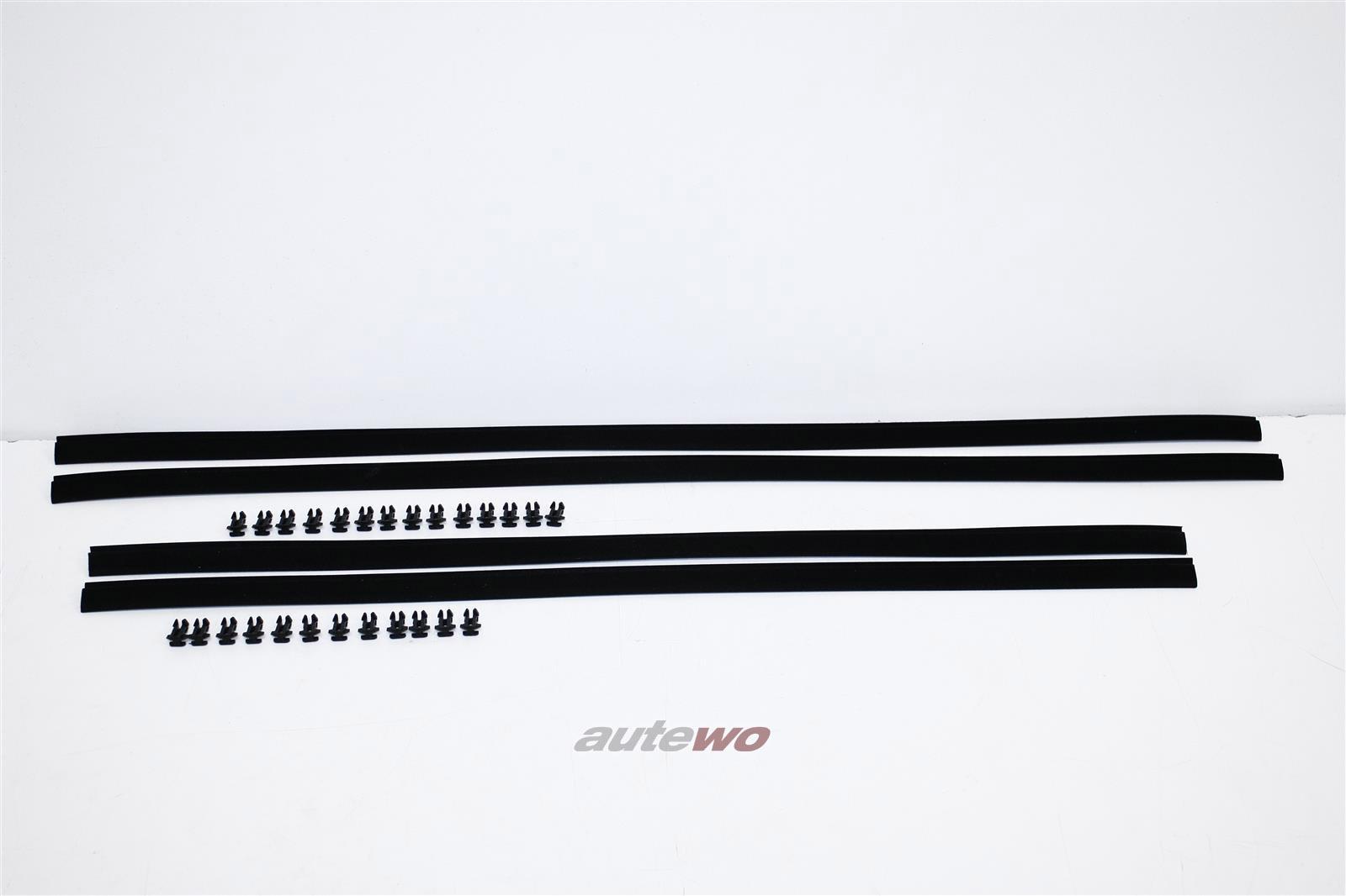 813837477B NEU Audi 80/90 81/85 Limousine 4x Fensterschachtabdichtung + Clips