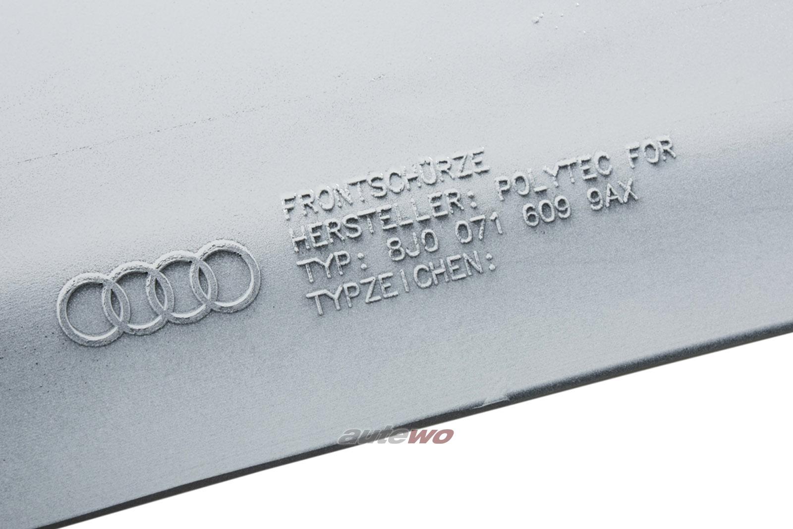 8J0071609 NEU Audi TT 8J Frontspoiler S-Line LY9C ibisweiß