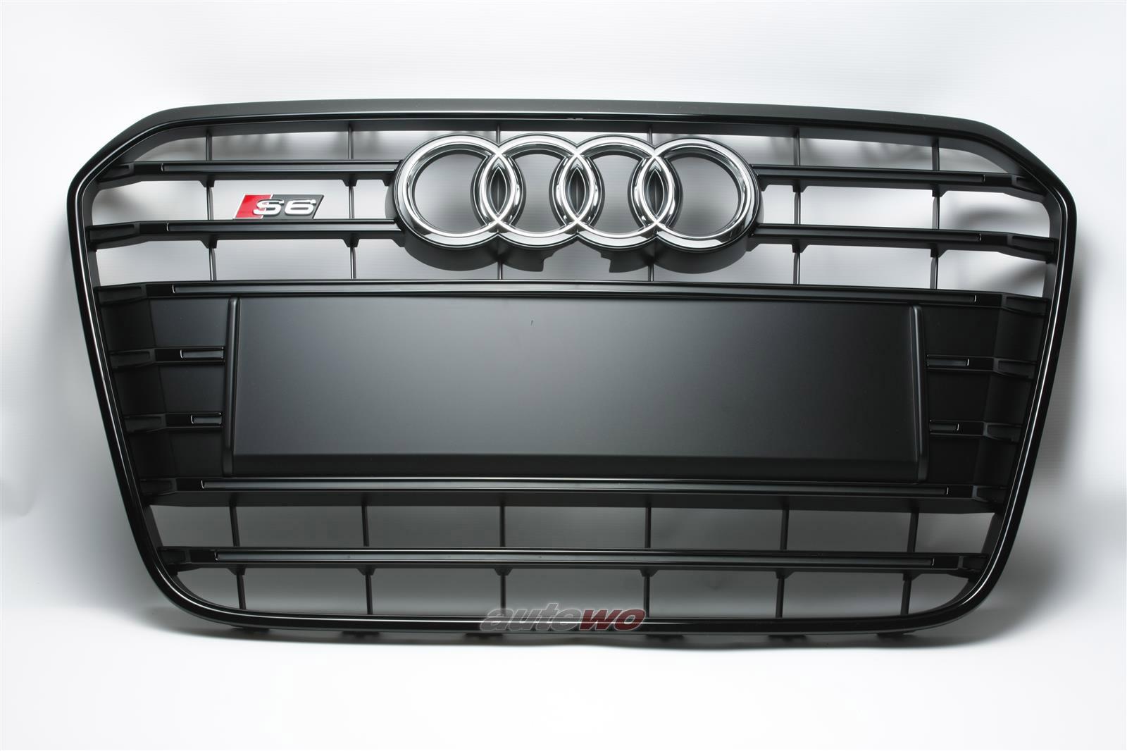 4G0853651S NEU Audi S6 4G Kühlergrill mit S6 Emblem CKA schwarz-matt