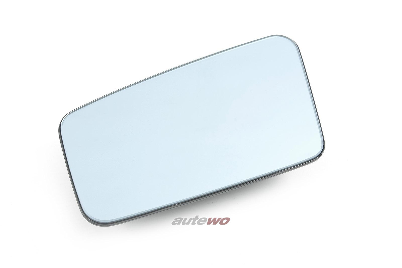 443857535L NEU Audi 100/200 Typ 44 Spiegelglas plan Links