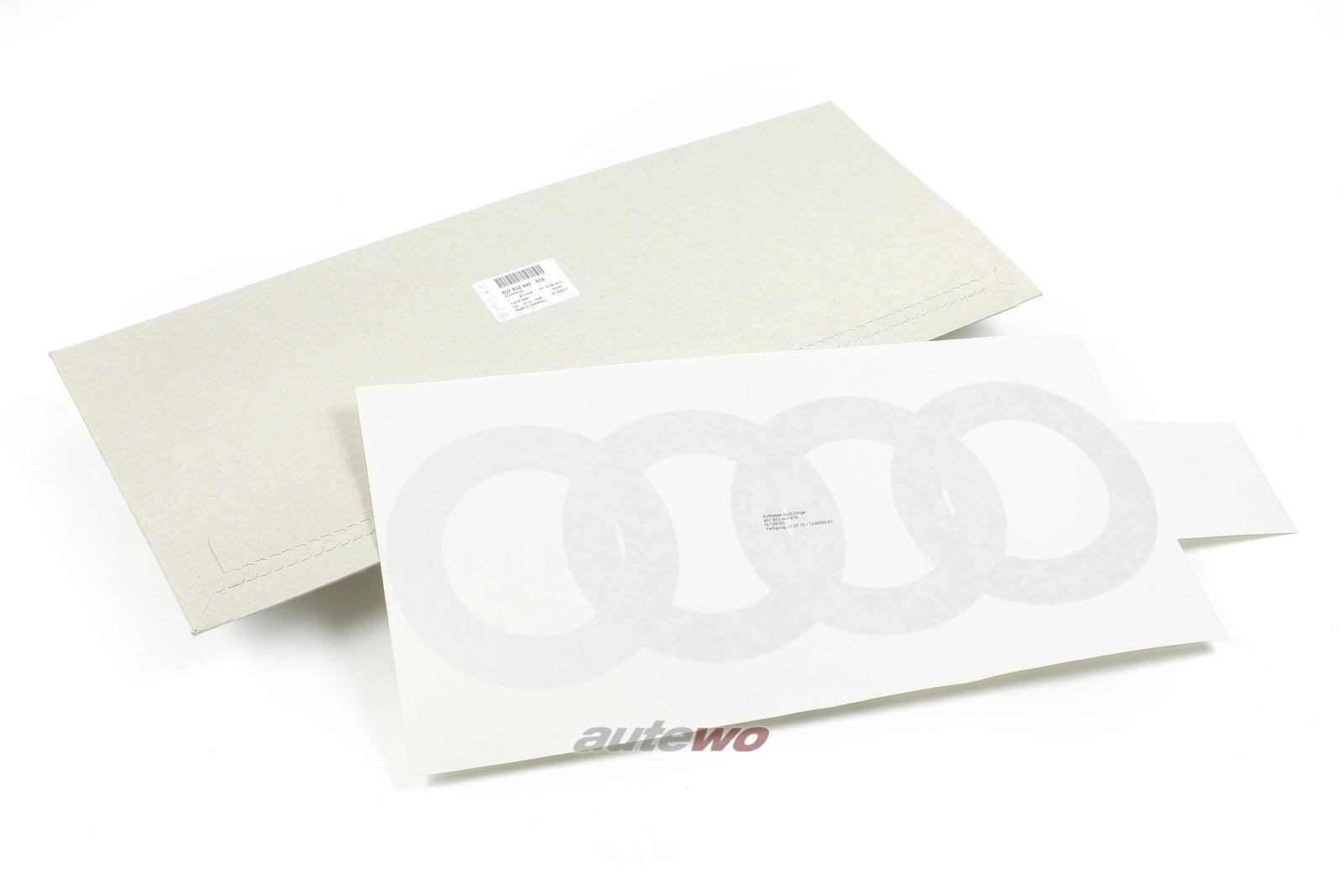 857853443 NEU Audi Urquattro Audiringe für unteren Tür-Bereich silber