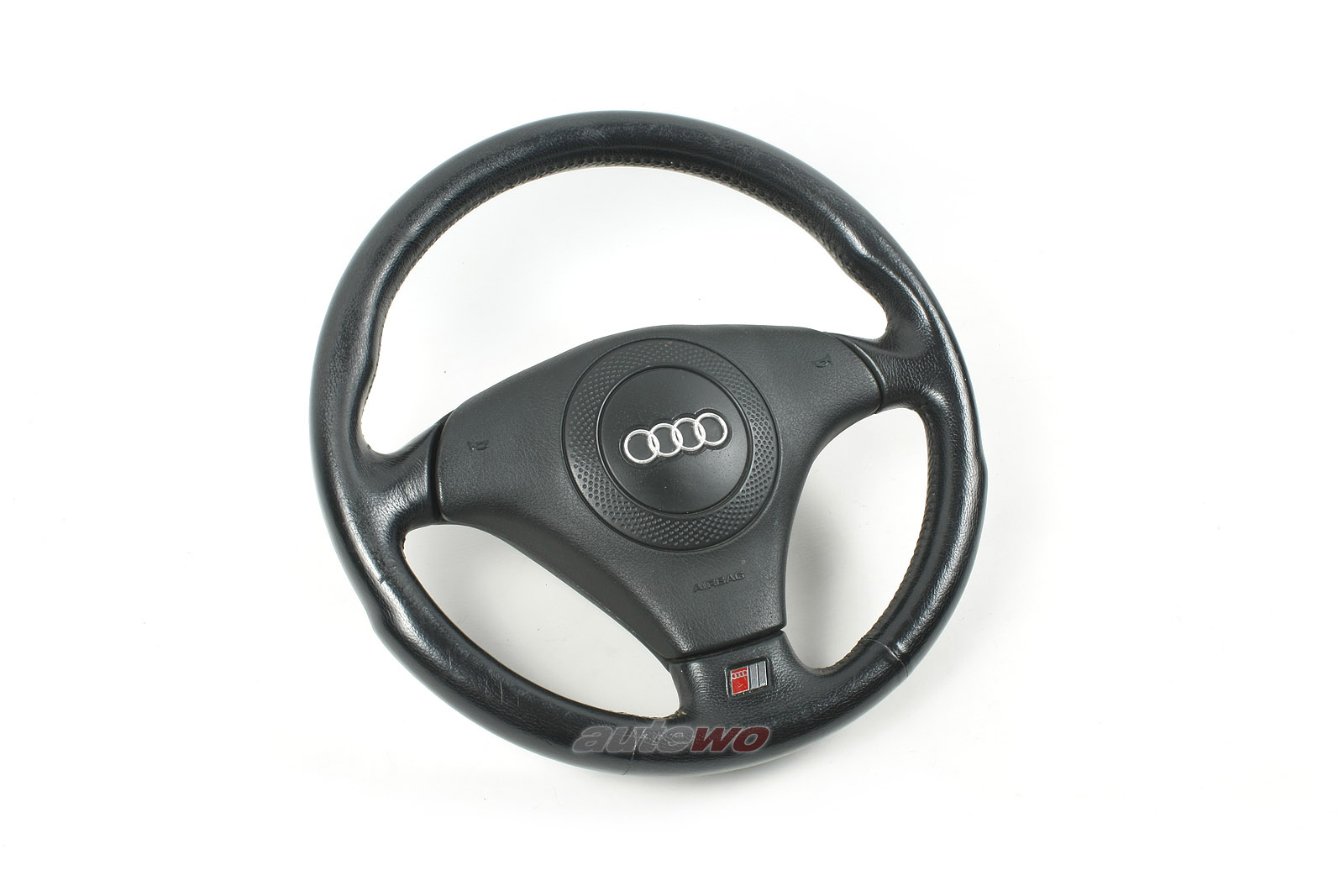 4B0419091G Audi 80 89 Cabrio/A4/S4 B5/A6/S6 4B/A8/S8 3-Speichen-Leder-Lenkrad