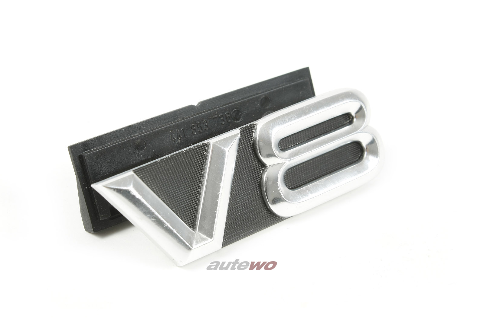 441853736 NEU Audi V8 D11 V8 Kühlergrill Emblem + Befestigungsmaterial silber