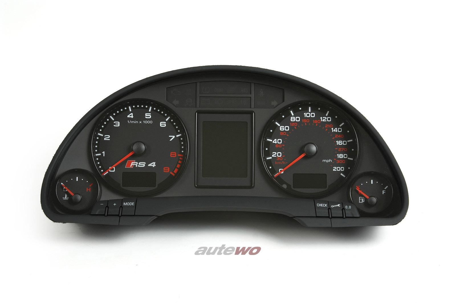 8E0920985P NEU Audi RS4 8E Kombiinstrument mit Meilentacho
