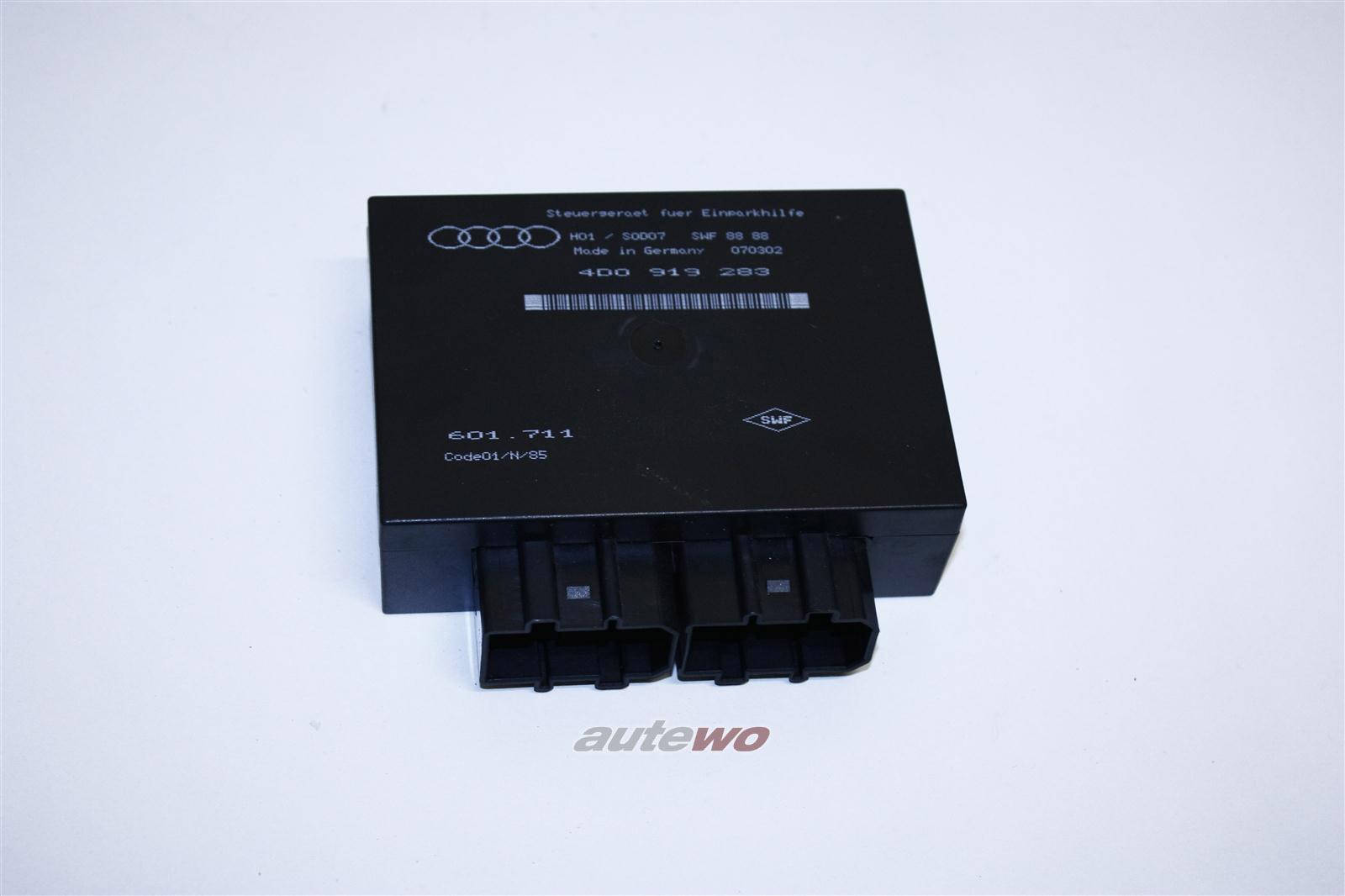 Audi A6 4B/A8 D2 Steuergerät Einparkhilfe Vorn & Hinten 4D0919283