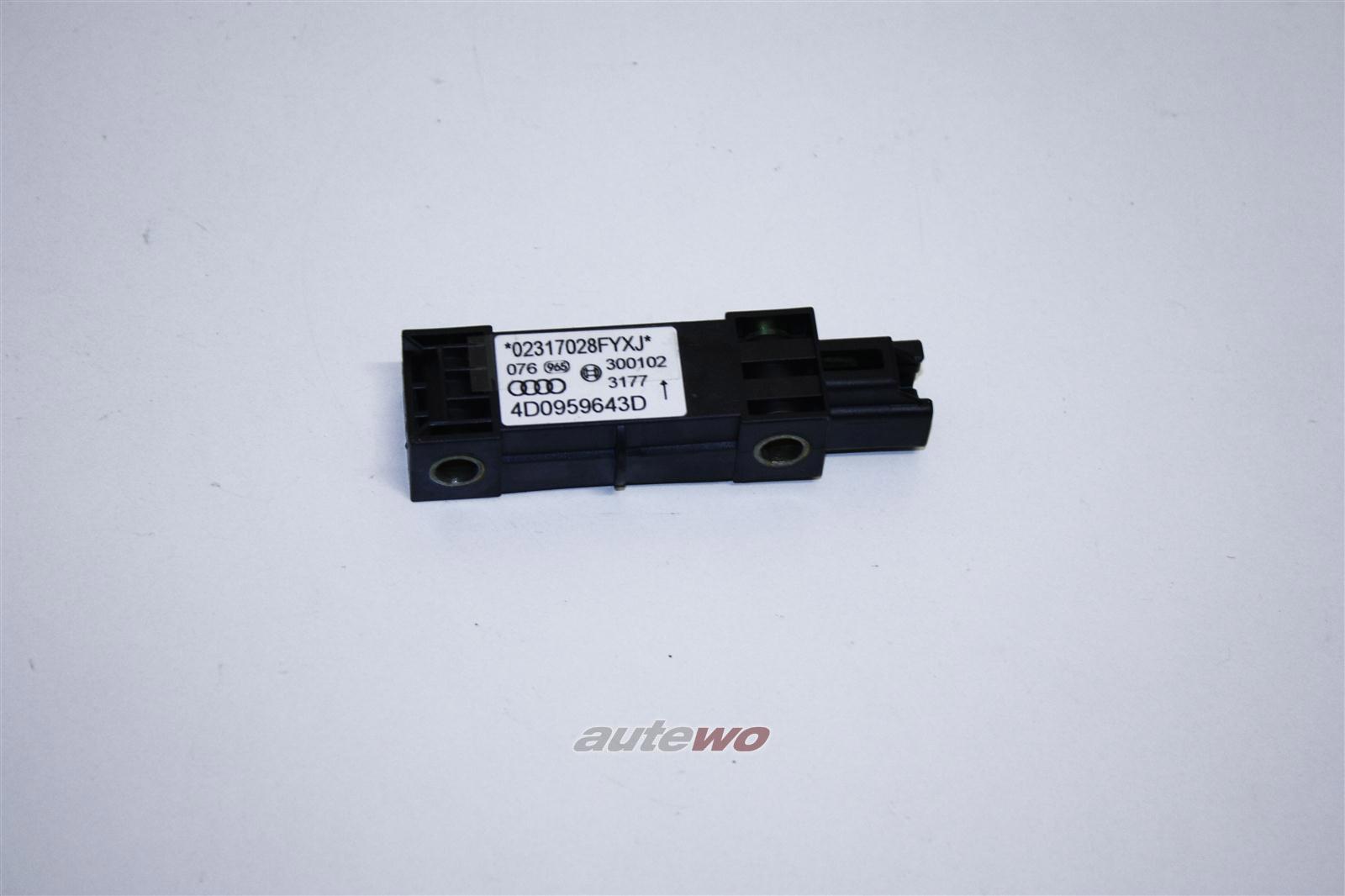Audi A8 D2 Crash-Sensor für Querbeschleunigung 4D0959643D