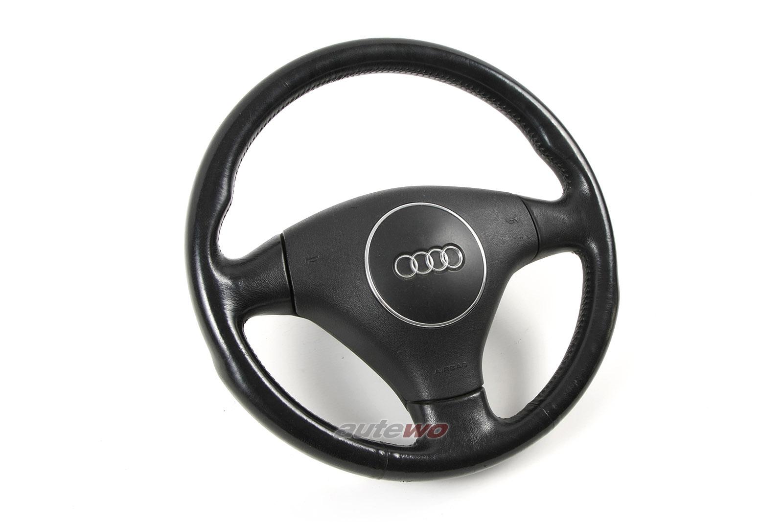8Z0419091D Audi A2/A3 8P/A6 4B/A8 D2 3-Speichen-Airbag-Sportlenkrad Leder
