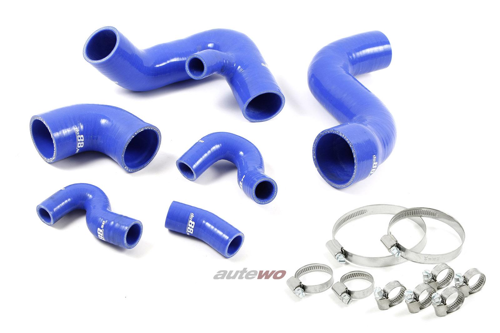 Audi/SEAT A4 8E/Exeo 1.8 Turbo 20V Turbo Silikon-Druckschlauchset + Klemmen blau