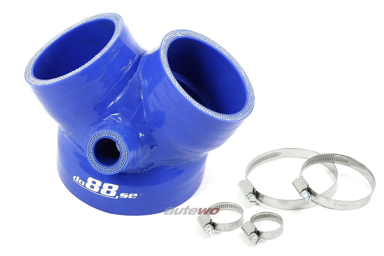 Audi S4 B5/A6 4B/Allroad 2.7l Biturbo Silikon-Druckschlauch Drosselklappe blau