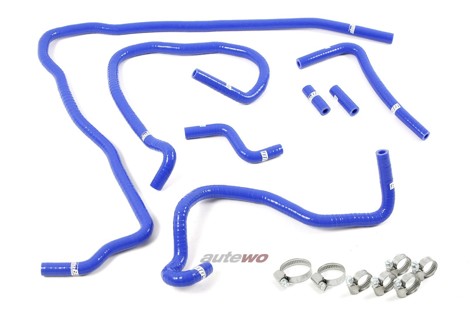 Audi S3 8L 1.8 Turbo 20V Turbo APY/AUL Silikon-Unterdruckschlauchset + Klemmen blau
