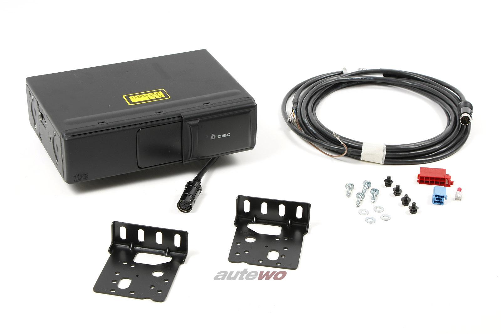 4B0057111A 4B0035111A NEU Audi A3 8L/A4 B5/A6 4B/A8 D2 CD-Wechsler + Montageset