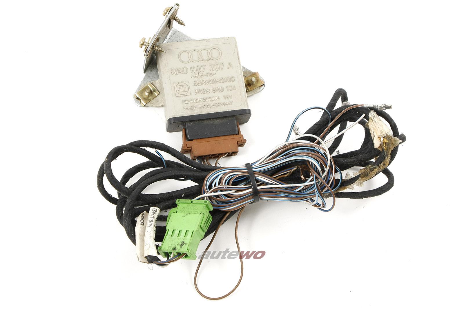 8A0907307A Audi 80/90 89/B4/Coupe/S2/RS2 Kabelbaum Servotronic + Steuergerät
