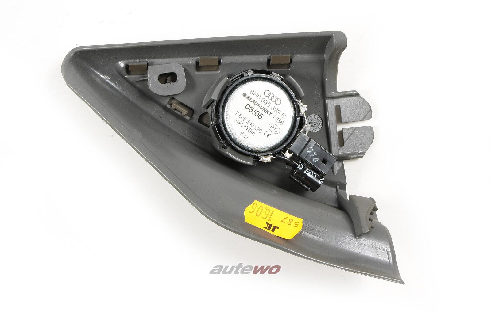 8H0035399B/C & 8H0857505 Audi A4/S4/RS4 8H Cabrio Hochtöner Links grau