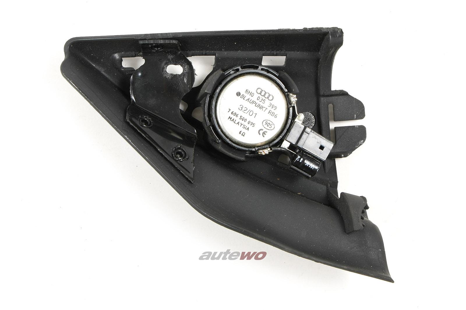8H0035399C & 8H0857505 Audi A4/S4/RS4 8H Cabrio Hochtöner Links schwarz