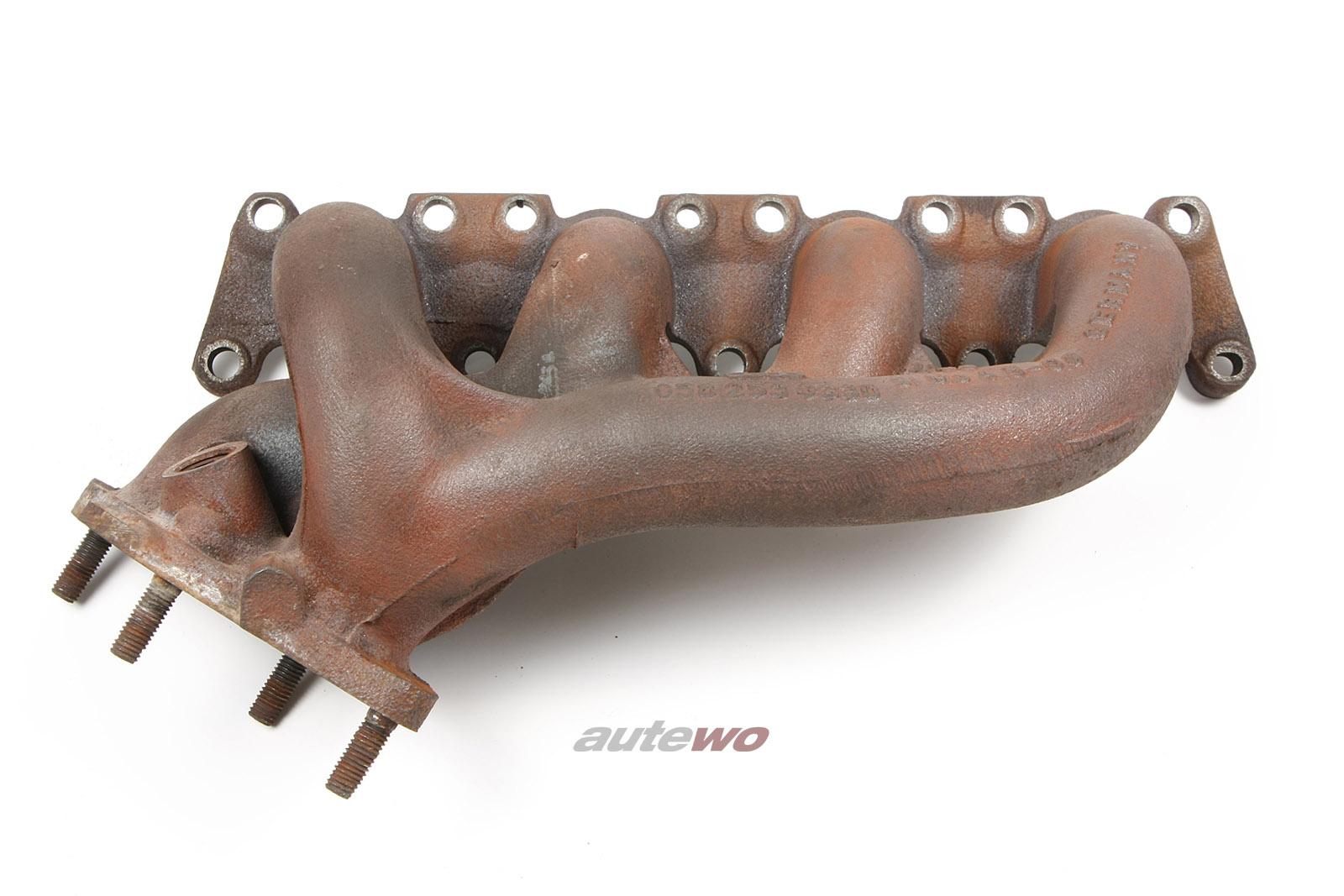 058253031B 058253033D Audi 80 Cabrio Typ 89/A6 C4 1.8l 4 Zylinder Abgaskrümmer