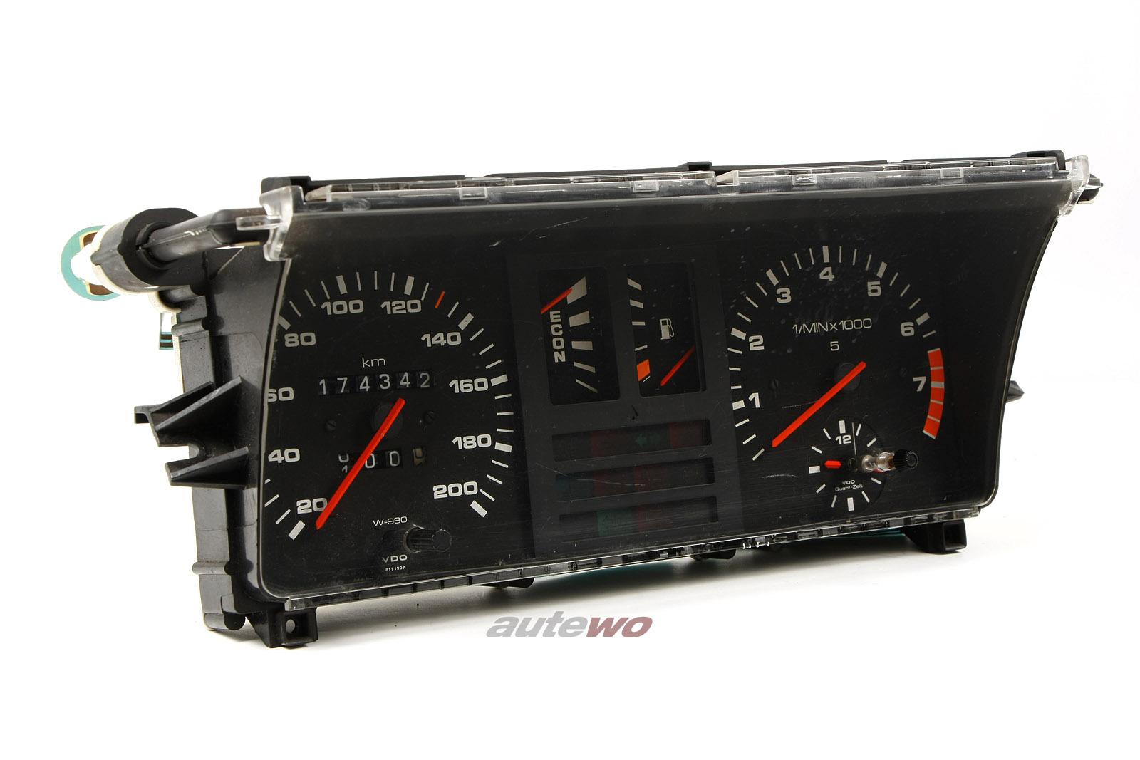 811190A/811919036L Audi 80/Coupe Typ 81 Kombiinstrument 4 Zylinder VDO 200km/h