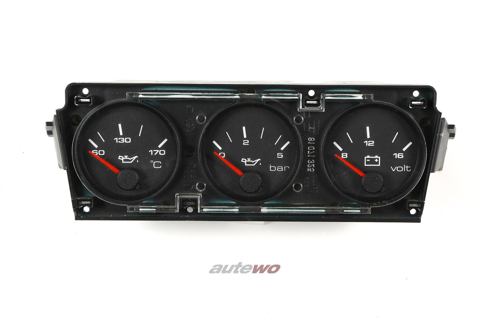 8A1919214 Audi 80 B4/Coupe/Cabrio Typ 89 Zusatzinstrumente Öldruck/Öltemperatur