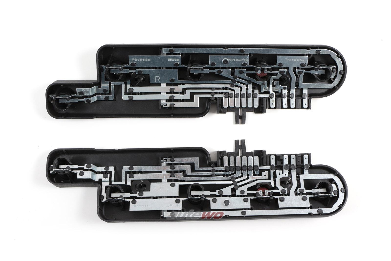 895945221/895945222 NEU Audi Coupe Typ 89/S2 Set Lampenträger Rückleuchten