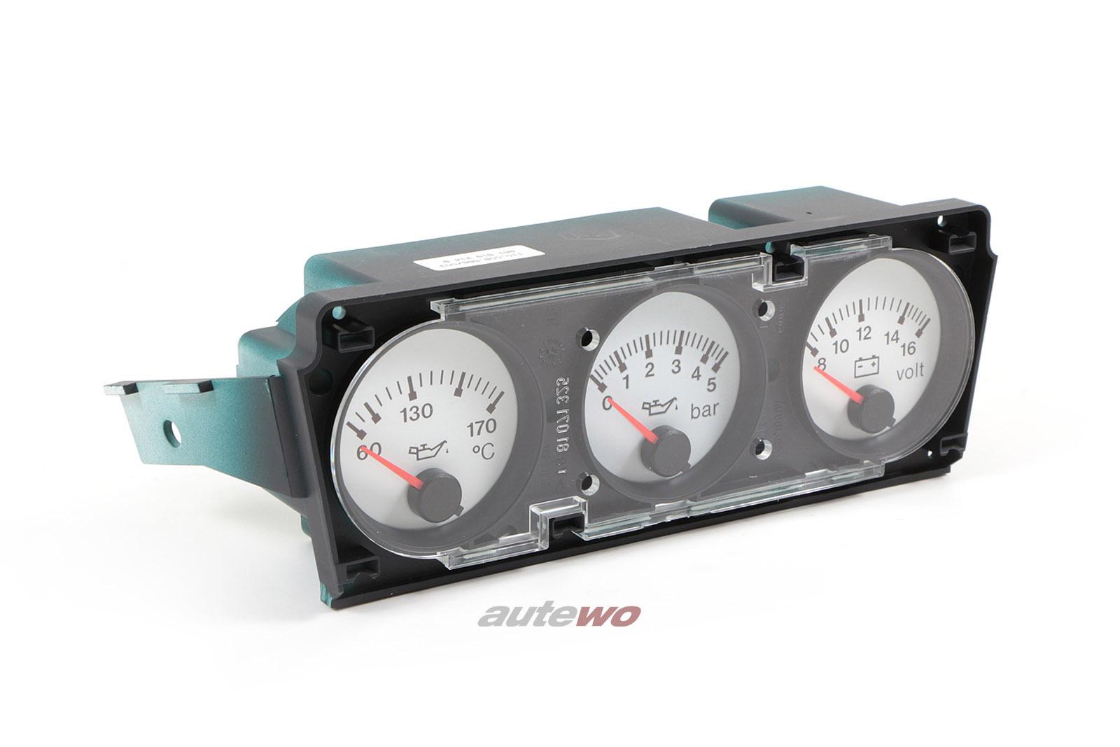 8A1919214B-NEU-Audi-RS2-P1-Zusatzinstrumente-Oldruck-Temp-Volt-schneeweiss