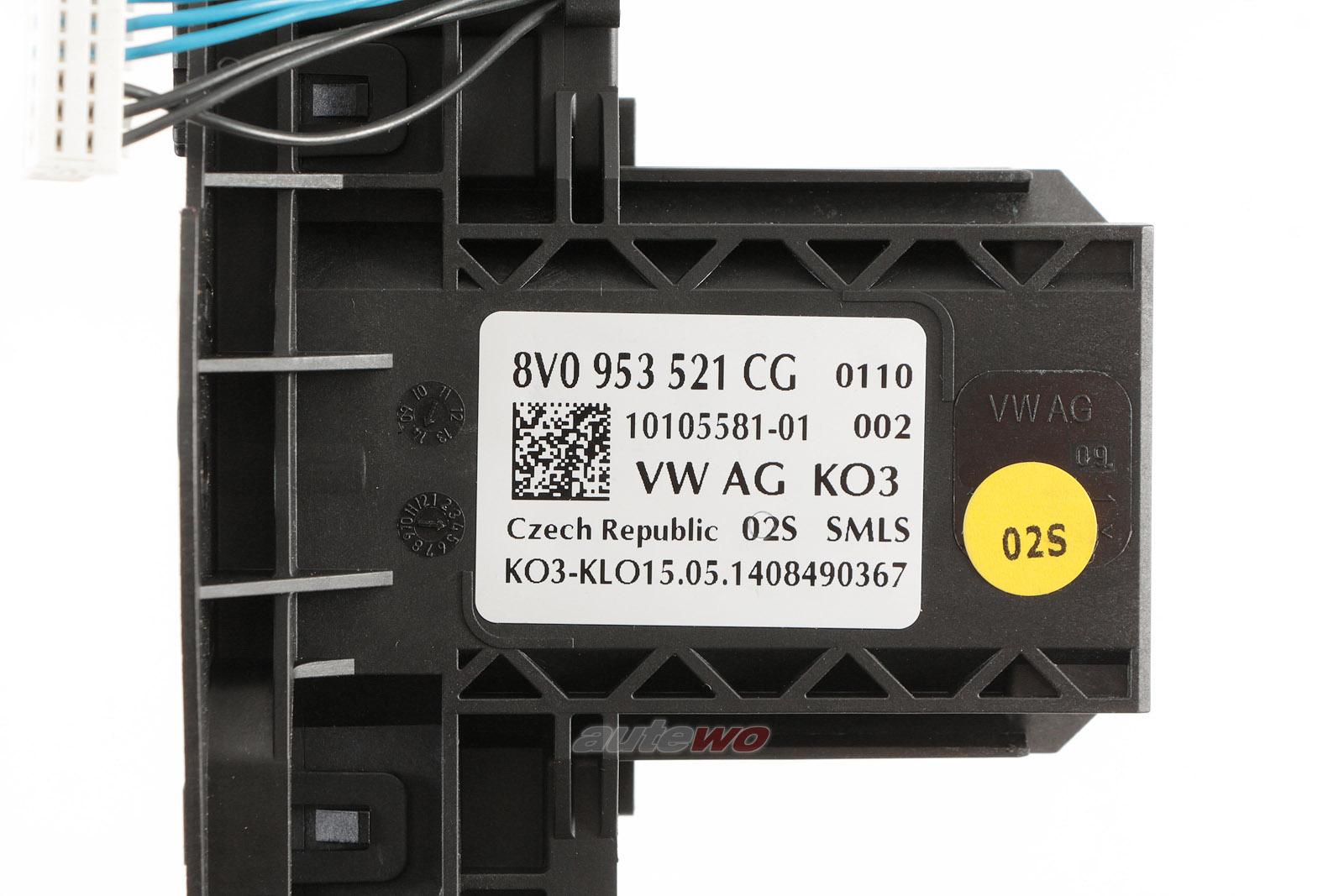 8V0953521CG 8V0953502A NEU Audi A3/S3 8V Lenkstockschalter MFA