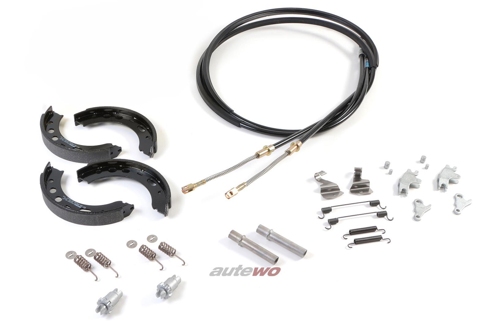 Audi RS2 Set Handbremse komplett inkl. Bremsbacken/Bremszüge 8A0609721AG