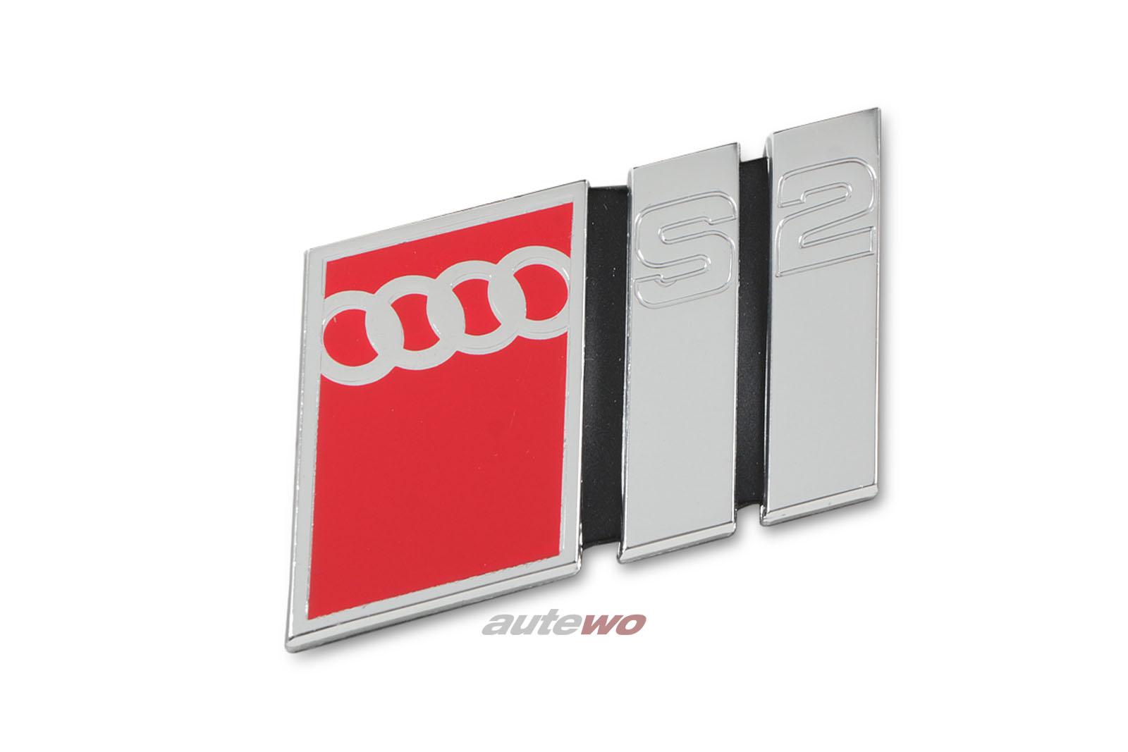 895853735B NEU Audi S2 Coupe Typ 89/B4 Schriftzug S2 2ZZ Chrom