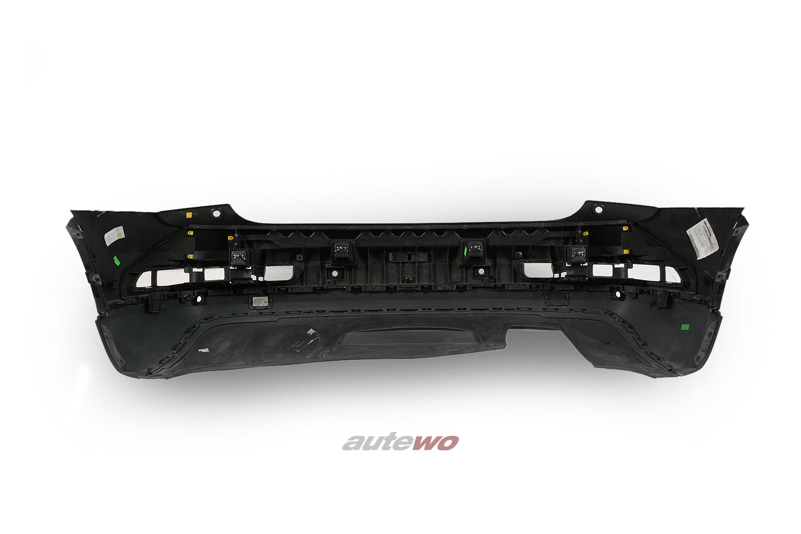 8U0807067E  Audi Q3 8U Stoßstange Hinten LY9T Mythosschwarz-metallic